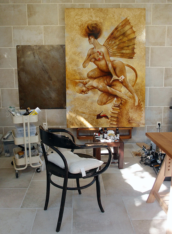 Work in progress in the atelier